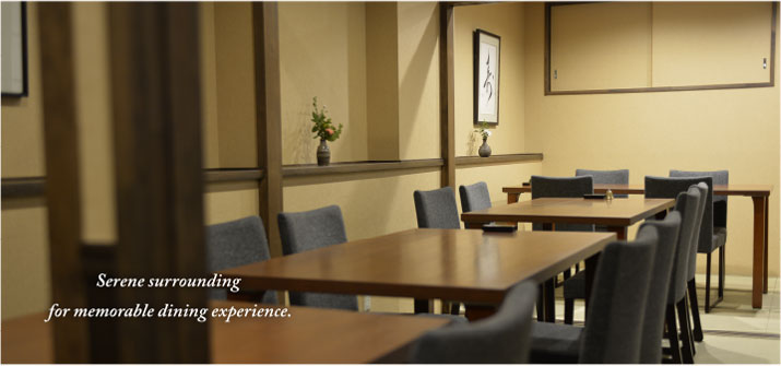 Serene surrounding for memorable dining experience.
